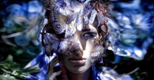 Дама с бабочками