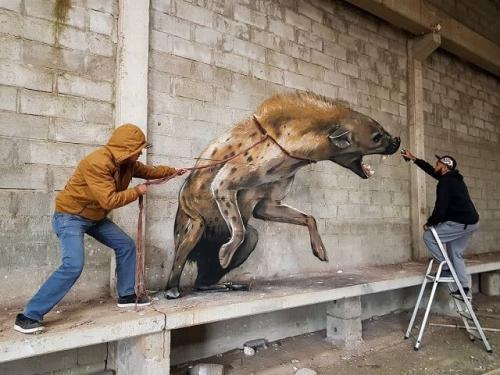 Реалистичное 3-D граффити